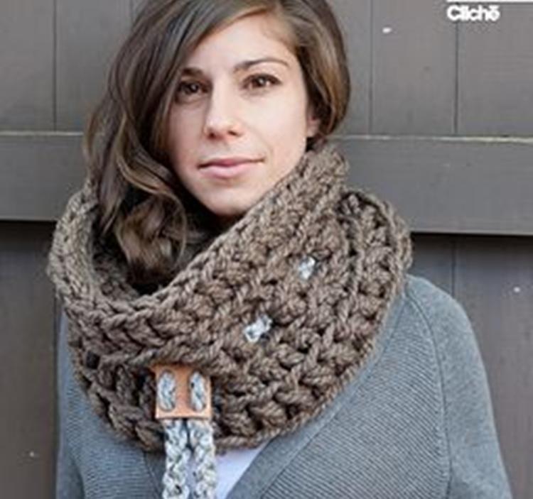 Taller Hazte un cuello o bufanda de lana xl