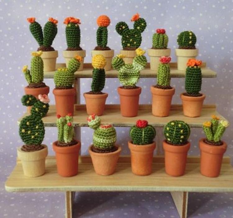 Haz un cactus de ganchillo