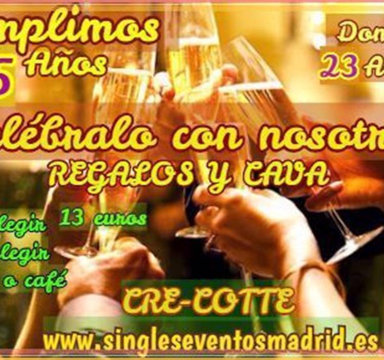 COMIDA 15º ANIVERSARIO-REGALO y CAVA(SOLO 13€