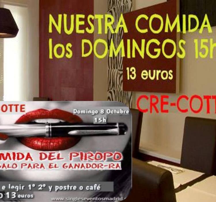 DOMINGO COMIDA del PIROPO DIVERTIDO JUEGO--13 eur