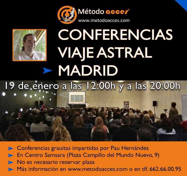 Conferencia Viaje Astral en Madrid