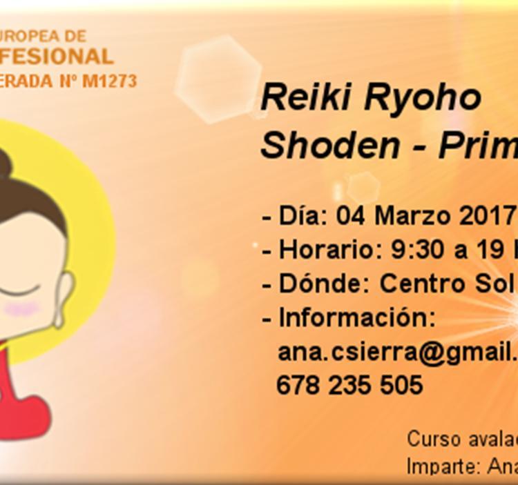 Curso Reiki Ryoho: Shoden - Primer Nivel