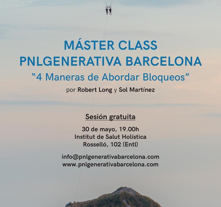 Máster Class PNL GENERATIVA BARCELONA