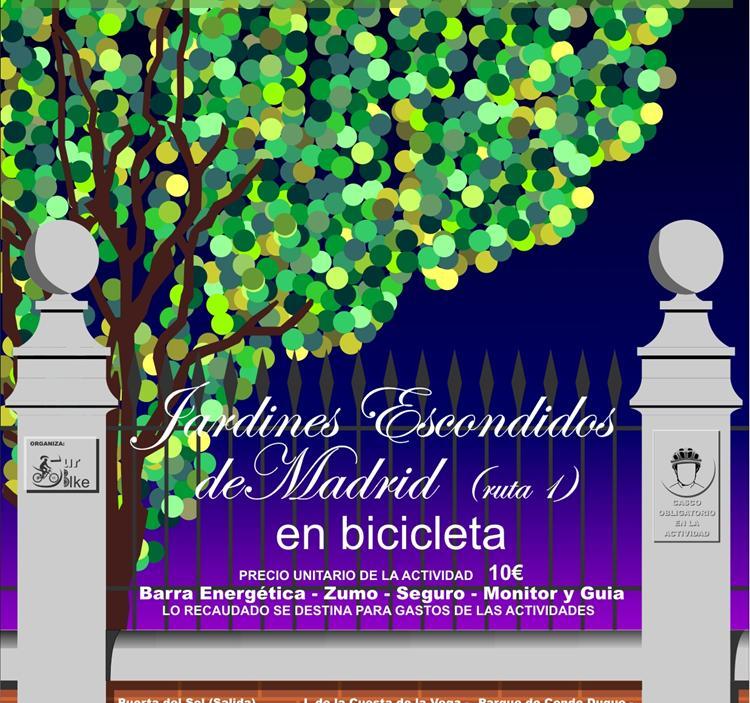 Ruta: Jardines escondidos de madrid en bicicleta ruta 1