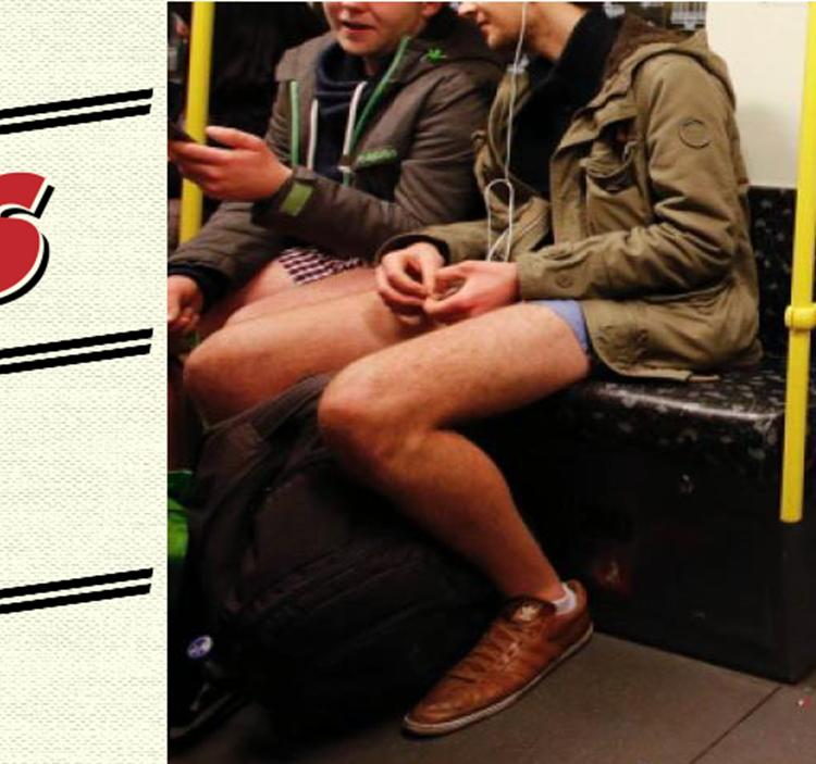 No Pants Subway Ride Barcelona 2015