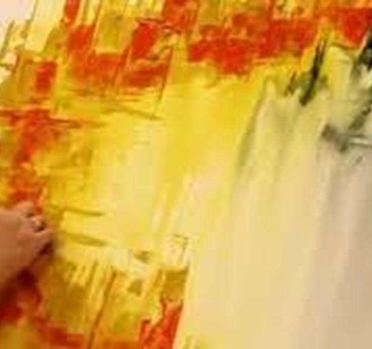 Taller de pintura r pida cuadro abstracto uolala for Ideas para pintar cuadros