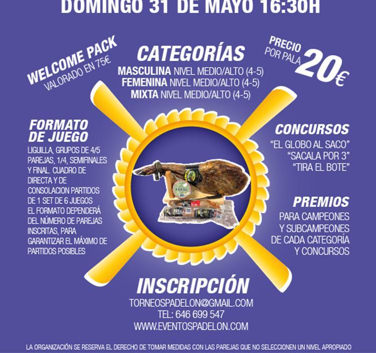 Torneo Pádel en Ciudad de la Raqueta 31 Mayo