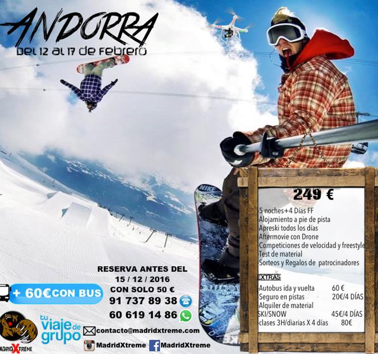 Viaje Andorra Grandvalira Feb 2017 ski/snow